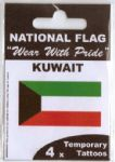 Kuwait Country Flag Tattoos.